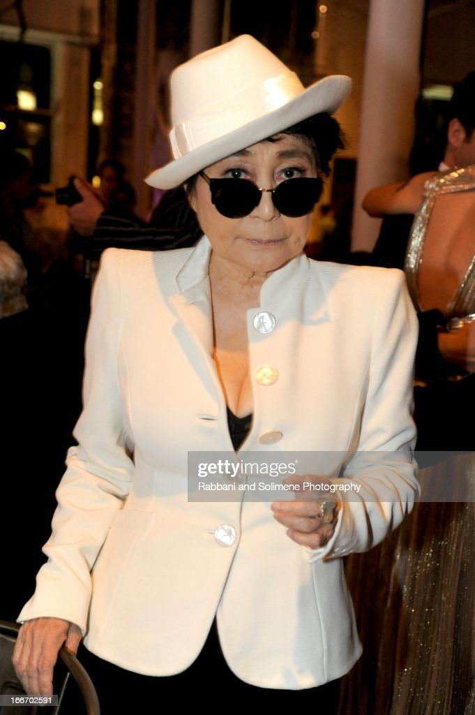 <a gi-track='captionPersonalityLinkClicked' href=/galleries/search?phrase=Yoko+Ono&family=editorial&specificpeople=202054 ng-click='$event.stopPropagation()'>Yoko Ono</a> attends the 2013 Art Production Fund Gala at ABC Home & Carpet on April 15, 2013 in New York City.