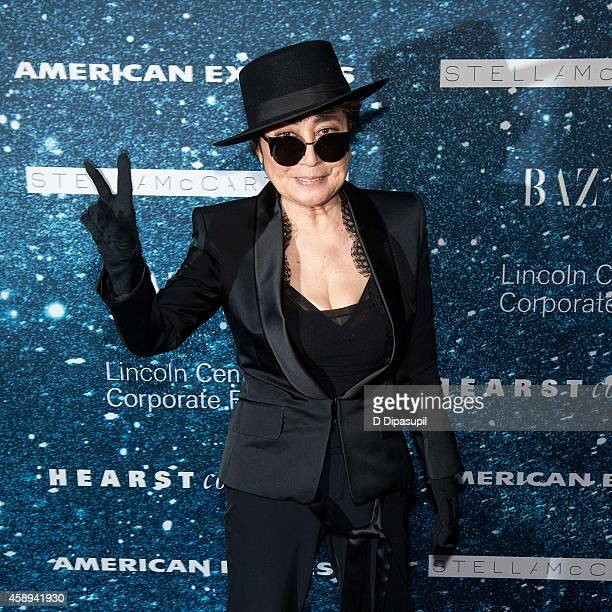 Yoko Ono attends the 2014 Women's Leadership Award Honoring Stella McCartney at Alice Tully Hall at Lincoln Center on November 13 2014 in New York...