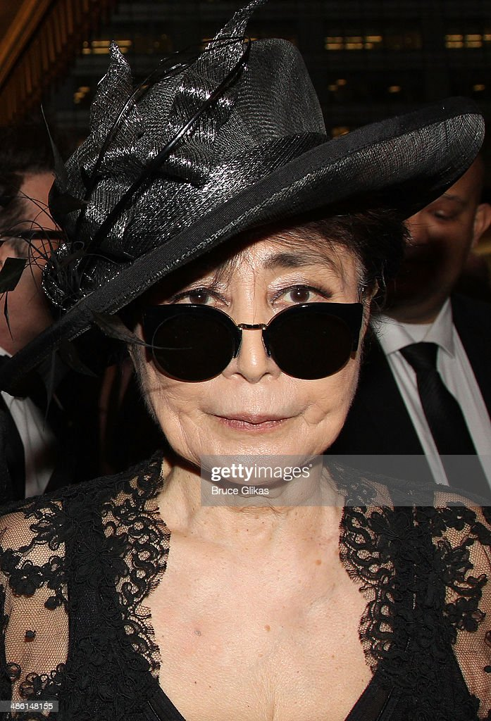 <a gi-track='captionPersonalityLinkClicked' href=/galleries/search?phrase=Yoko+Ono&family=editorial&specificpeople=202054 ng-click='$event.stopPropagation()'>Yoko Ono</a> attends the Broadway opening night of 'Hedwig And The Angry Inch' at The Belasco Theatre on April 22, 2014 in New York City.