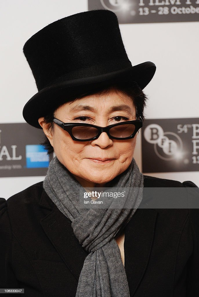 <a gi-track='captionPersonalityLinkClicked' href=/galleries/search?phrase=Yoko+Ono&family=editorial&specificpeople=202054 ng-click='$event.stopPropagation()'>Yoko Ono</a> attends the 'LennoNYC' Official Screening as part of the 54th BFI London Film Festival at the Vue West End on October 28, 2010 in London, England.
