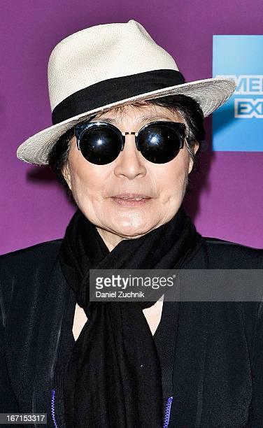 Yoko Ono attends the screening of 'Gasland Part II' during the 2013 Tribeca Film Festival at SVA Theater on April 21 2013 in New York City