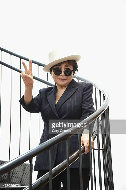 Yoko Ono attends the Yoko Ono One Woman Show 19601971 at Museum of Modern Art on May 12 2015 in New York City