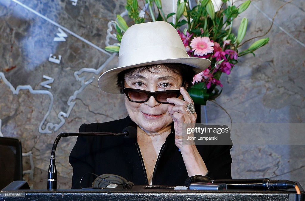 Yoko Ono attends 'World Autism Awareness Day' Celebration at The Empire State Building on April 2, 2013 in New York City.