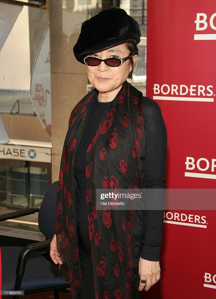 <a gi-track='captionPersonalityLinkClicked' href=/galleries/search?phrase=Yoko+Ono&family=editorial&specificpeople=202054 ng-click='$event.stopPropagation()'>Yoko Ono</a> during <a gi-track='captionPersonalityLinkClicked' href=/galleries/search?phrase=Yoko+Ono&family=editorial&specificpeople=202054 ng-click='$event.stopPropagation()'>Yoko Ono</a> Signs Her Album 'Yes, I'm a Witch' at Borders Books in New York City - February 10, 2007 at Borders Books in New York City, New York, United States.
