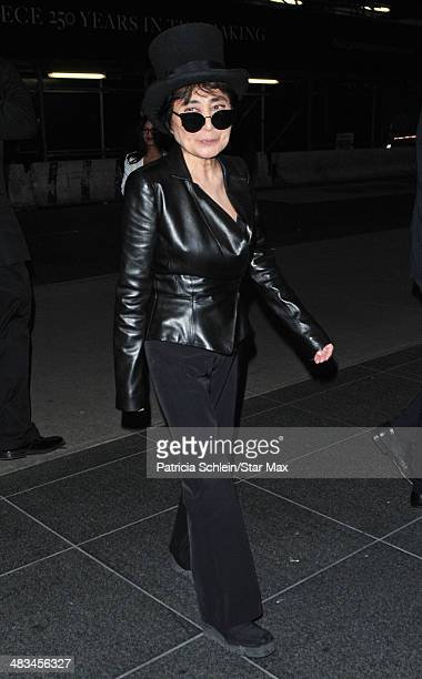 Yoko Ono is seen on April 8 2014 in New York City