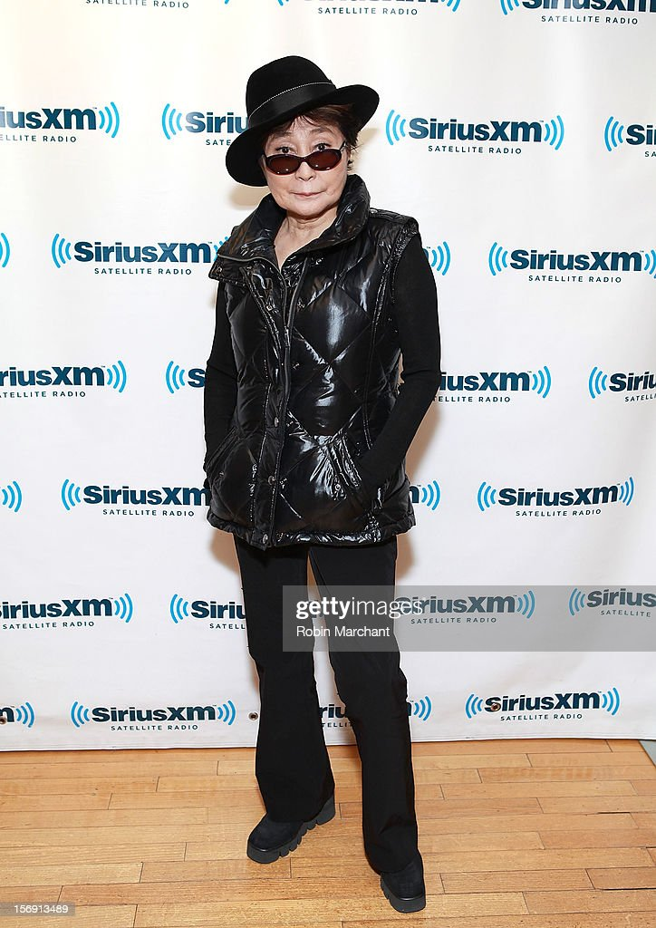Yoko Ono visits the SiriusXM Studios on November 21, 2012 in New York City.