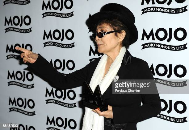 Yoko Ono with her Lifetime Achievement award during the 2009 MOJO Honours List at The Brewery on June 11 2009 in London England