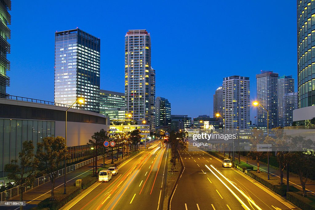 Yokohama at dusk