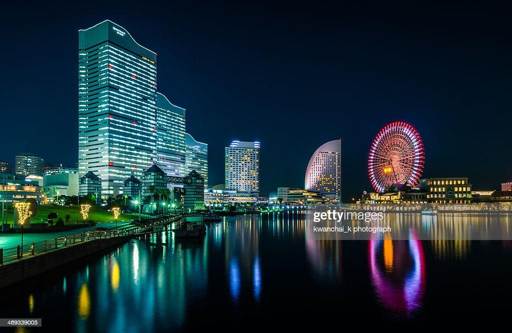 Yokohama Bay at Night : Stock Photo