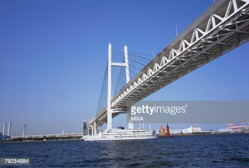 Yokohama Bay Bridge, Japan : Stock Photo