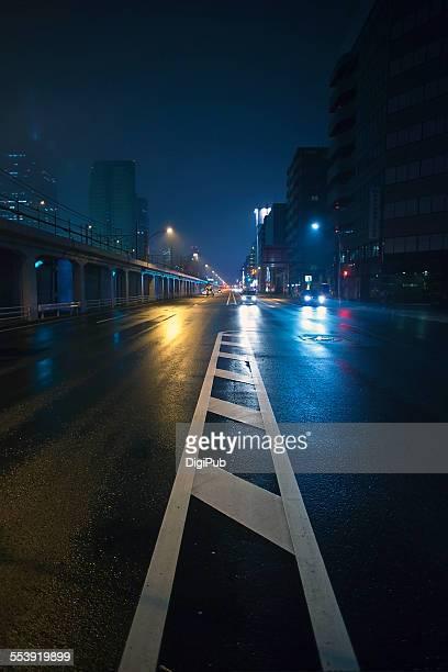 Yokohama in rain