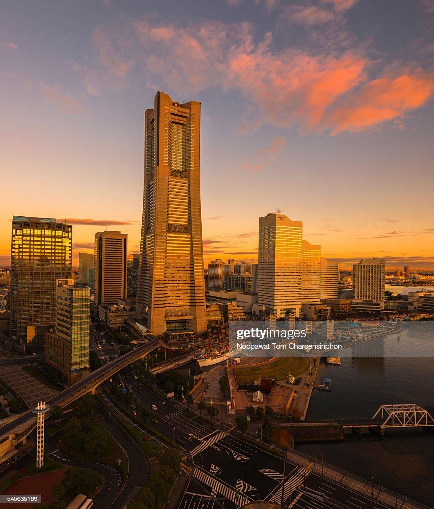 Yokohama Japan Sunrise