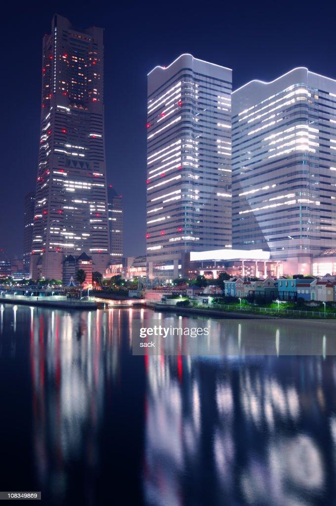 Yokohama Landmark Tower and Queens Square : Stock Photo