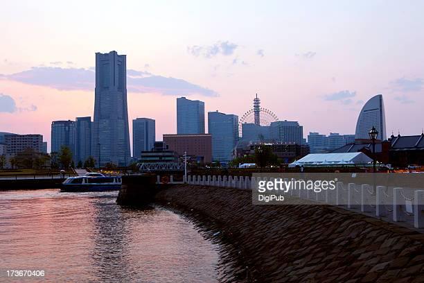 Yokohama Minato Mirai at dusk