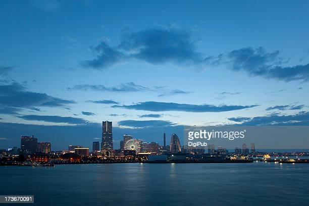 Yokohama skyline at dusk