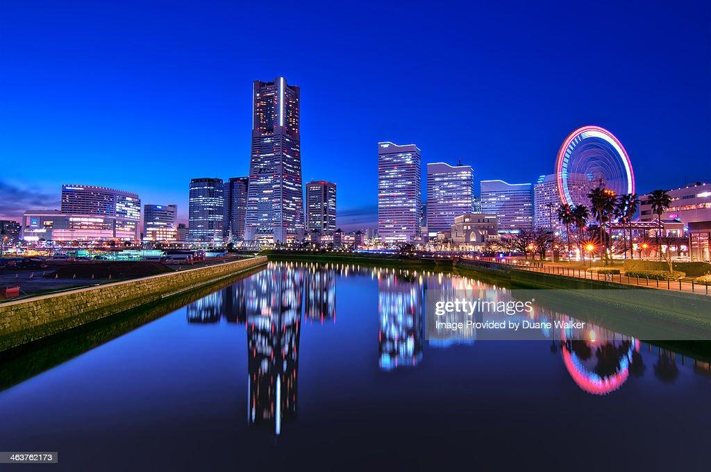 Yokohama Skyline At Dusk