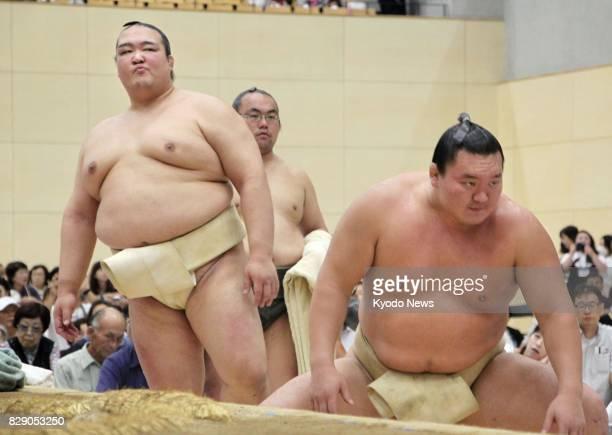 Yokozuna Kisenosato joins sumo's summer regional tour in Hitachi Ibaraki Prefecture on Aug 10 2017 Kisenosato who missed the July 30 start of the...