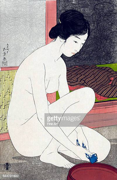 Yokugo no onna fullcolor woodblock shinhanga print private collection