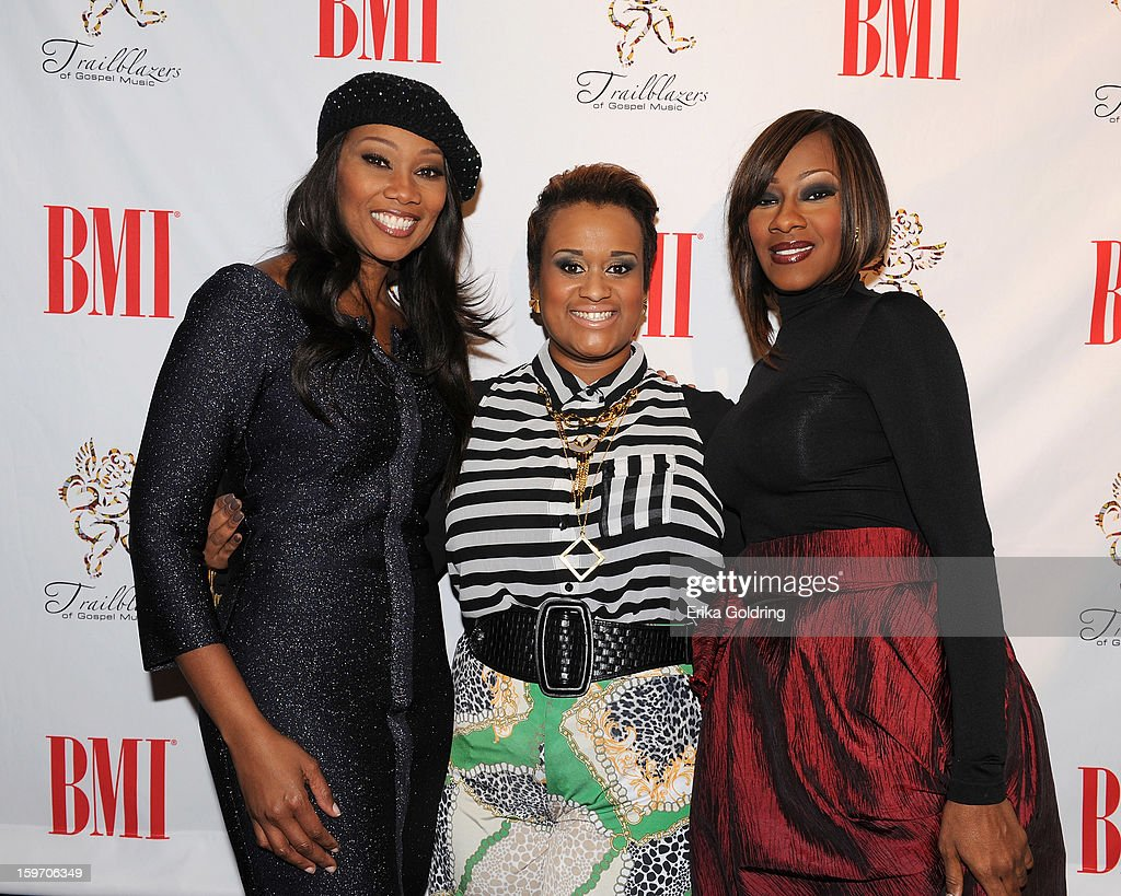 <a gi-track='captionPersonalityLinkClicked' href=/galleries/search?phrase=Yolanda+Adams&family=editorial&specificpeople=206858 ng-click='$event.stopPropagation()'>Yolanda Adams</a>, Amber Bullock and Leandria Johnson attend the 14th annual BMI Trailblazers of Gospel Music Awards at Rocketown on January 18, 2013 in Nashville, Tennessee.