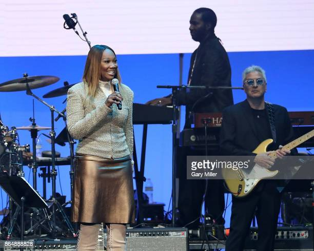 Yolanda Adams performs in concert during the 'Deep From The Heart One America Appeal Concert' at Reed Arena on October 21 2017 in College Station...