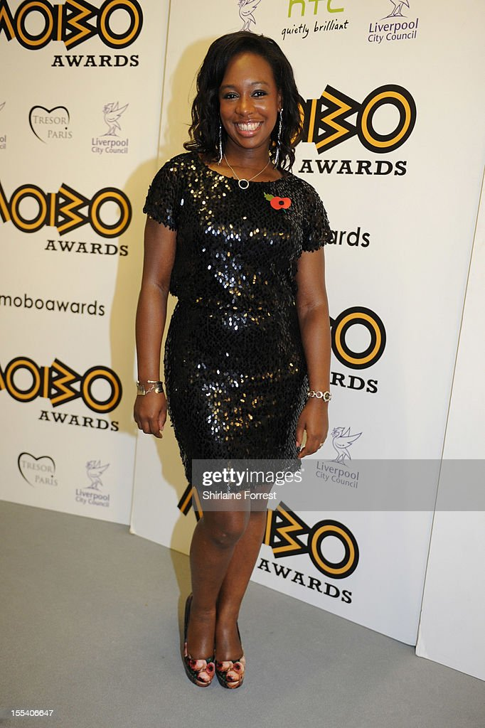 Yolanda Brown poses in the awards room at the 2012 MOBO awards at Echo Arena on November 3, 2012 in Liverpool, England.