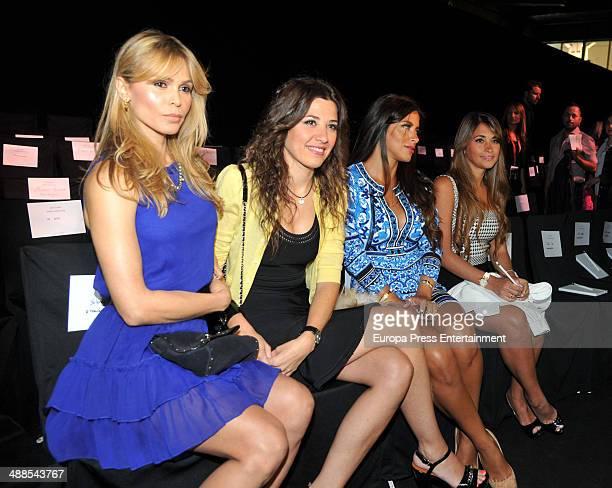 Yolanda Cardona Nuria Cunillera Daniella Semaan and Antonella Roccuzzo attend the Rosa Clara fashion show during 'Barcelona Bridal Week 2014' on May...