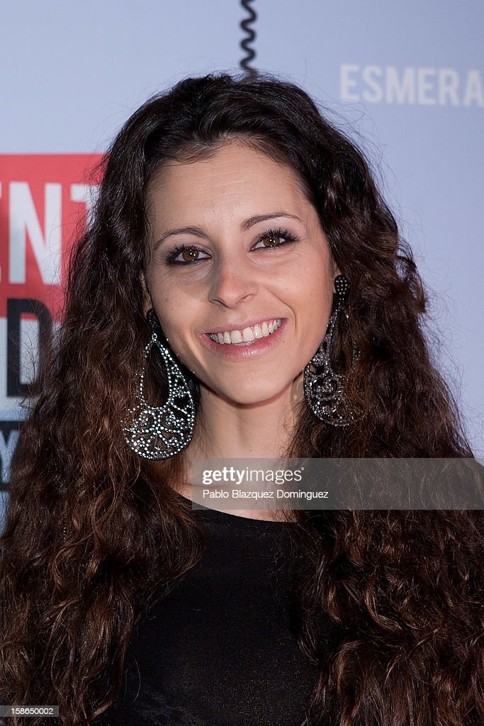 Yolanda Font attends 'Absolutamente Comprometidos' premiere at Teatro del Arte de Madrid on December 22, 2012 in Madrid, Spain.