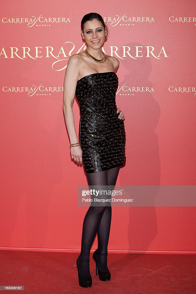 Yolanda Font attends 'Maja de los Goya Awards 2012' at Fernan Nunez Palace on March 7, 2013 in Madrid, Spain.