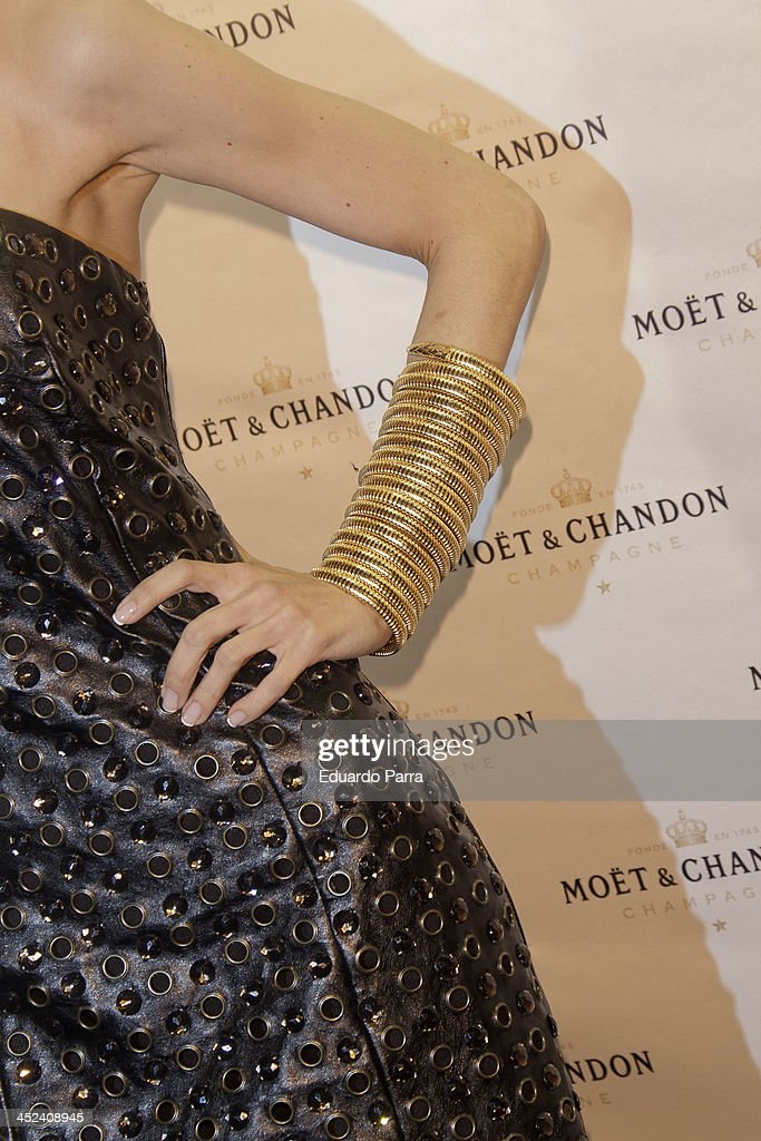 Yolanda Font attends 'Moet Golden Glass' party photocall at Le Boutique on November 28, 2013 in Madrid, Spain.