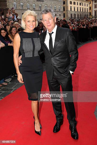 Yolanda Foster and David Foster attend the Celebrity Fight Night In Italy Benefitting The Andrea Bocelli Foundation and The Muhammad Ali Parkinson...