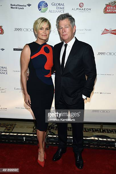 Yolanda Foster and David Foster attend the Global Lyme Alliance 'Uniting for a LymeFree World' Inaugural Gala at Cipriani 42nd Street on October 8...