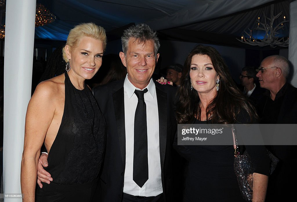 Yolanda Foster, <a gi-track='captionPersonalityLinkClicked' href=/galleries/search?phrase=David+Foster&family=editorial&specificpeople=210611 ng-click='$event.stopPropagation()'>David Foster</a> and <a gi-track='captionPersonalityLinkClicked' href=/galleries/search?phrase=Lisa+Vanderpump&family=editorial&specificpeople=6834933 ng-click='$event.stopPropagation()'>Lisa Vanderpump</a> attend the Universal Music Group Chairman & CEO Lucian Grainge's annual Grammy Awards viewing party on February 10, 2013 in Brentwood, California.