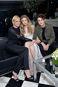Yolanda Foster model Gigi Hadid and Anwar Hadid attend Daily Front Row Fashion Los Angeles Awards Private Dinner hosted by Eva Chow and Carine...