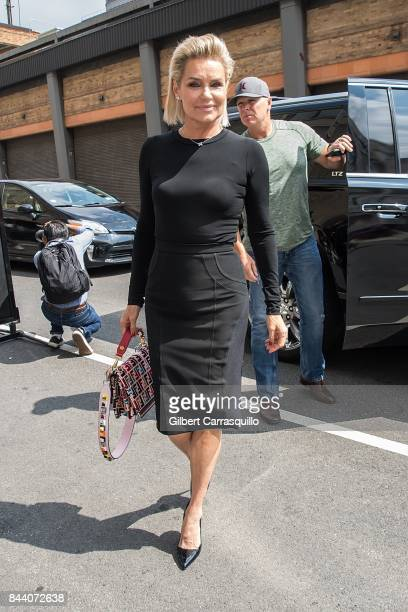 Yolanda Hadid arrives at Desigual fashion show during New York Fashion Week The Shows at Gallery 1 Skylight Clarkson Sq on September 7 2017 in New...
