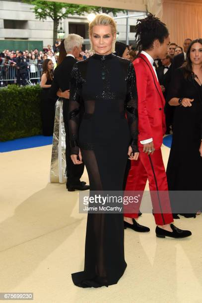 Yolanda Hadid attends the 'Rei Kawakubo/Comme des Garcons Art Of The InBetween' Costume Institute Gala at Metropolitan Museum of Art on May 1 2017 in...