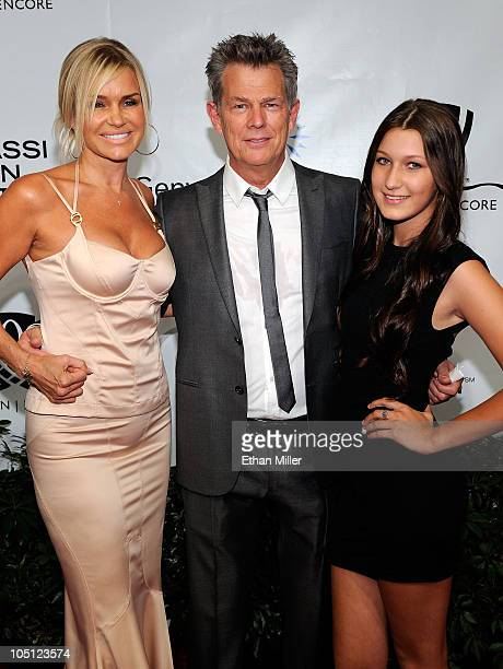 Yolanda Hadid musician/music producer David Foster and Bella Hadid arrive at the Andre Agassi Foundation for Education's 15th Grand Slam for Children...