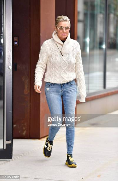 Yolanda Hadid seen on the streets of Manhattan on April 21 2017 in New York City