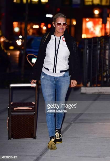 Yolanda Hadid seen on the streets of Manhattan on April 23 2017 in New York City
