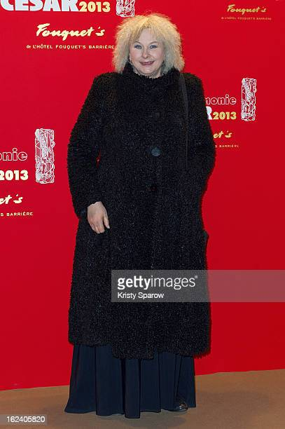 Yolande Moreau attends the Cesar Film Awards 2013 at Le Fouquet's on February 22 2013 in Paris France