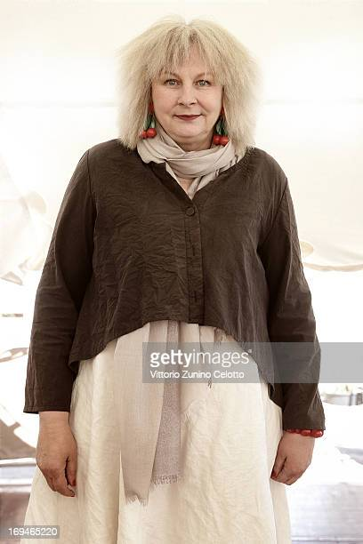Yolande Moreau attends the 'Henri' portrait session during The 66th Annual Cannes Film Festival at Plage de La Quinzaine on May 25 2013 in Cannes...