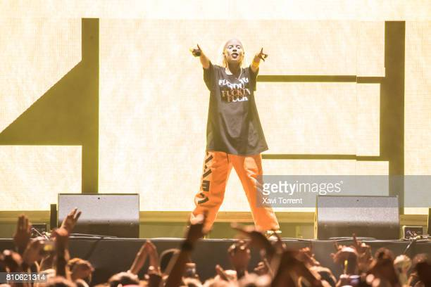 Yolandi Visser of Die Antwoord performs in concert during day 1 of Festival Cruilla on July 7 2017 in Barcelona Spain