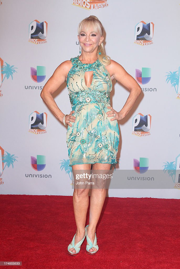 Yolandita Monge poses in the press room during the Premio Juventud 2013 at Bank United Center on July 18, 2013 in Miami, Florida.