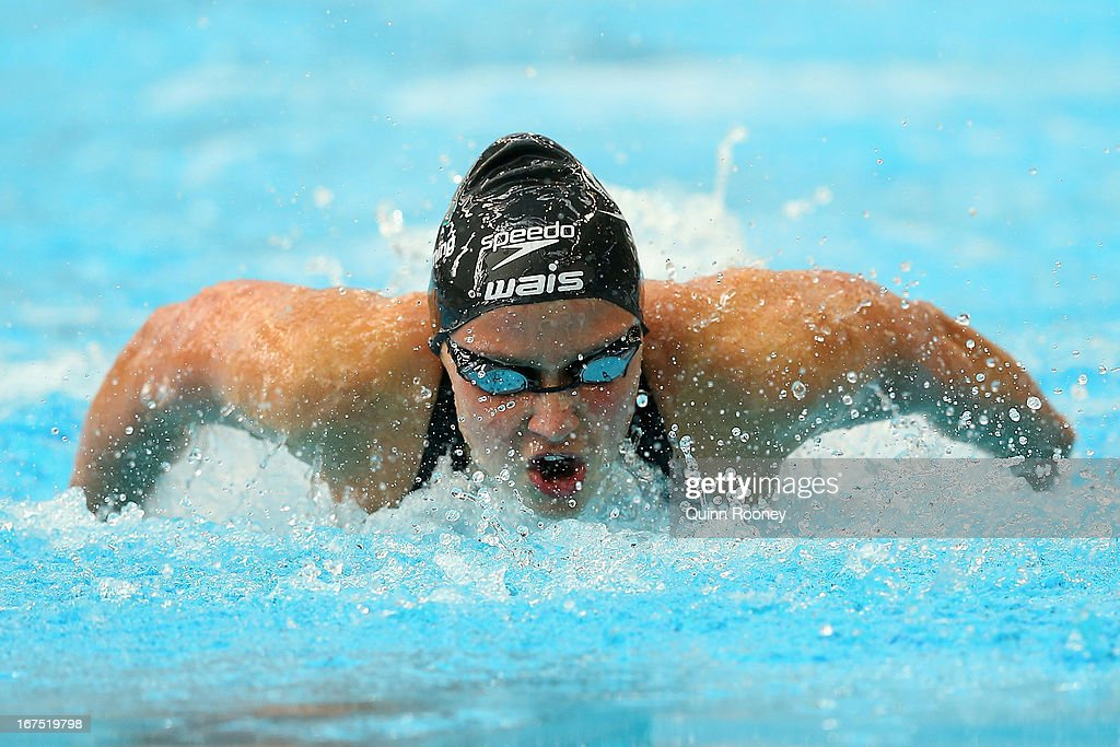 Yolane Kukla of Australia competes in the Women's 100 Metre Butterfly Heats during day one of the Australian Swimming Championships at the SA Aquatic and Leisure Centre on April 26, 2013 in Adelaide, Australia.