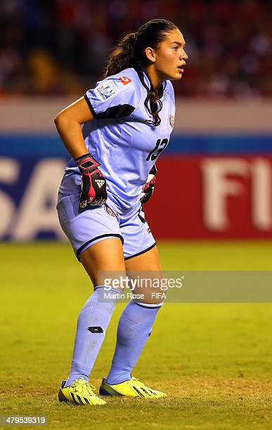Yolian Salas goalkeeper of Costa Rica looks on during the FIFA U17 Women's World Cup 2014 group A match between Costa Rica and Italy at Estadio...