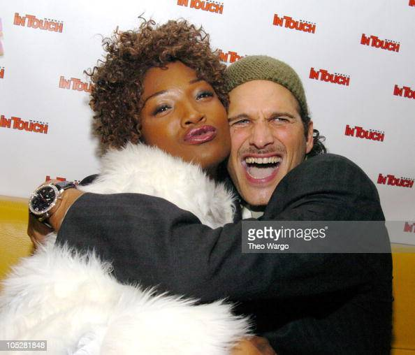 Yolonda Ross and Phillip Bloch during InTouch Magazine Fashion Week Party at Bryant Park Hotel The Cellar in New York City New York United States