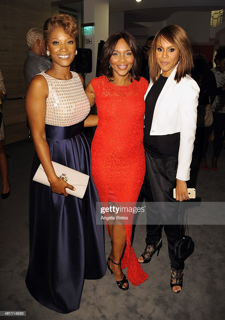 Yolonda Ross, Suzzanne Douglas and Deborah Cox arrive at the premiere of Lifetime's 'Whitney' at The Paley Center for Media on January 6, 2015 in Beverly Hills, California.