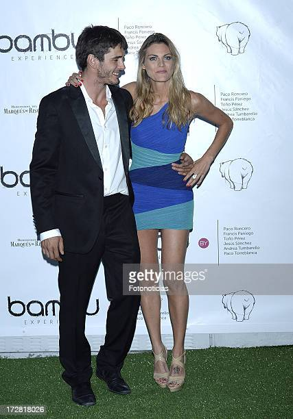 Yon Gonzalez and Amaia Salamanca attend Bambu Producciones anniversary party at Shoko on July 4 2013 in Madrid Spain