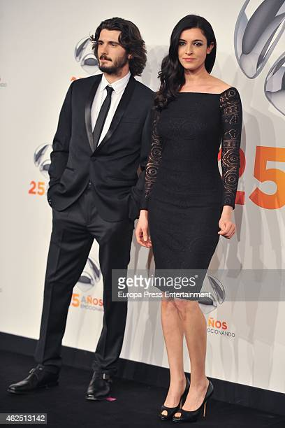 Yon Gonzalez and Blanca Romero attend 'Antena 3' 25th Anniversary Reception at the Palacio de Cibeles on January 29 2015 in Madrid Spain