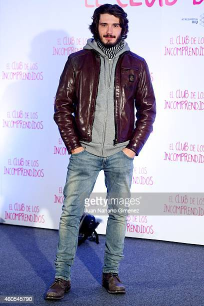 Yon Gonzalez attends 'El Club de los Incomprendidos' photocall at the ME Hotel on December 16 2014 in Madrid Spain