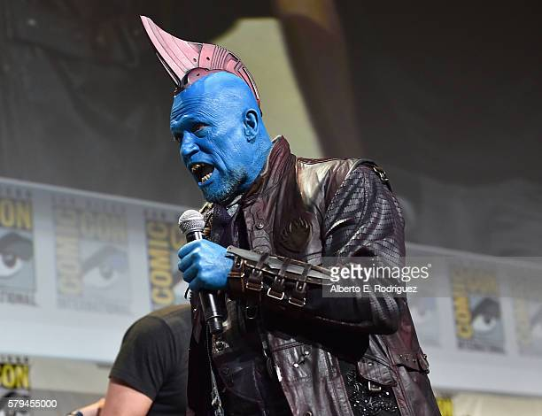 """Yondu from Marvel Studios' 'Guardians Of The Galaxy Vol 2"""" attends the San Diego ComicCon International 2016 Marvel Panel in Hall H on July 23 2016..."""